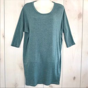 Urban Outfitters Sparkle & Fade Teal Dolman Dress
